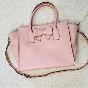 Kate Spade blush pink bow bag, top zip, crossbody